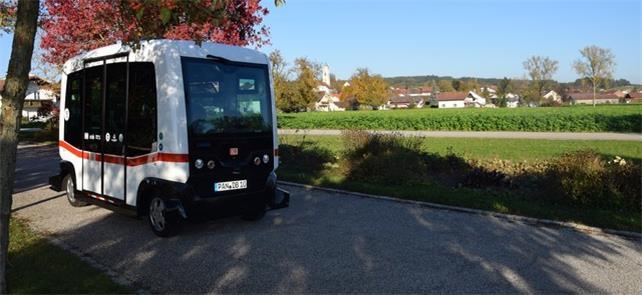 Ônibus autônomo rodando na Baviera (Alemanha)