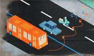 Ônibus e bikes, uma parceria harmônica
