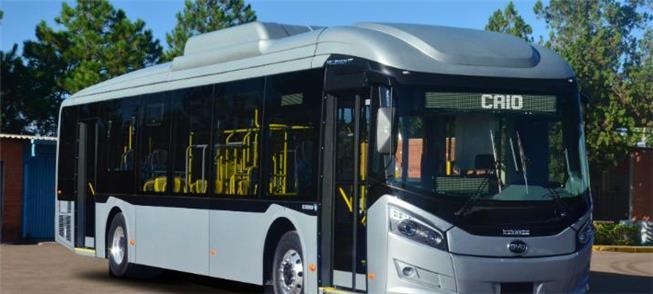 Ônibus elétrico BYD já circula experimentalmente n