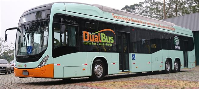Ônibus elétrico híbrido, projetado para o mercado