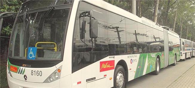 Ônibus elétrico utilizado pela EMTU na RM de São P