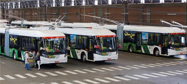 Ônibus elétricos do corredor ABD