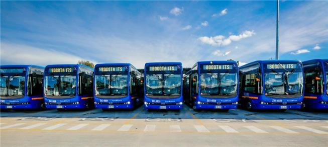 Ônibus elétricos para o Transmilenio