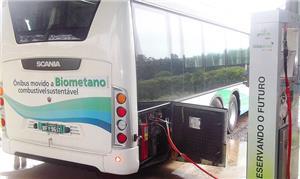 Ônibus movido a biogás renovável: 100% sustentável