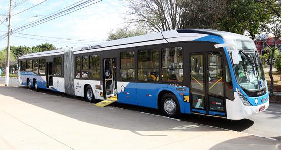 Ônibus não poluidores terão 'área branca' na regiã