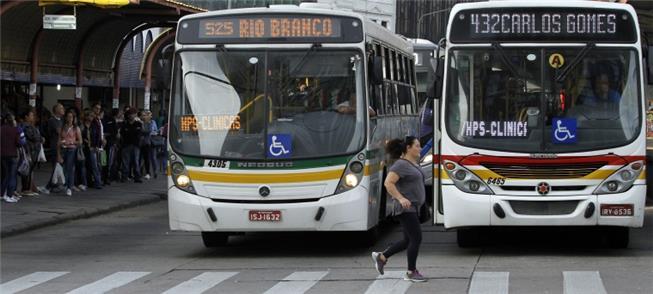 Ônibus no Centro de Porto Alegre