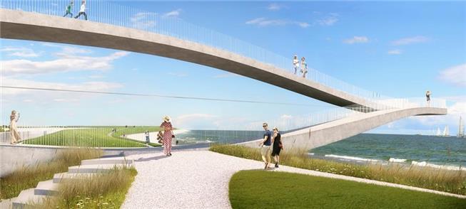 Orla de Den Helder ganha plataforma com percurso c