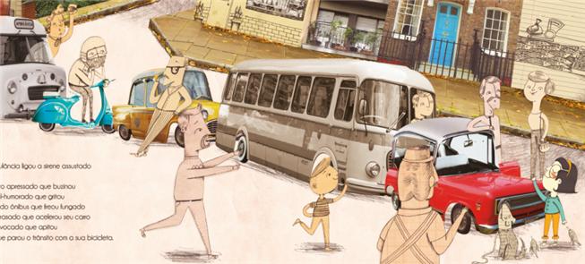 Página do livro: ilustração de Bruna Assis Brasil