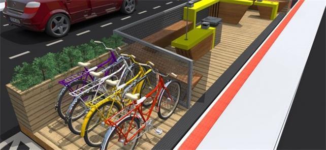 Parklets são áreas instaladas próximas a calçadas