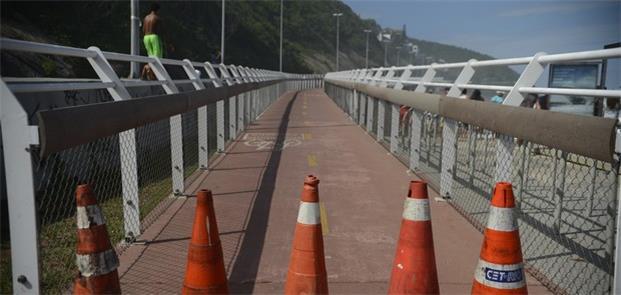 Parte da ciclovia Tim Maia interditada no Rio