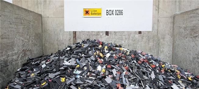 Partes de baterias de veículos para reciclagem