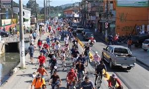 Passeio ciclistico em Itapevi