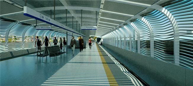 Perspectiva da futura estação Parangaba do VLT