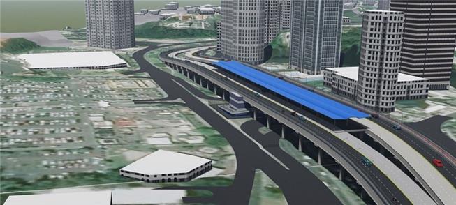 Perspectiva do projeto de estação do BRT na Avenid