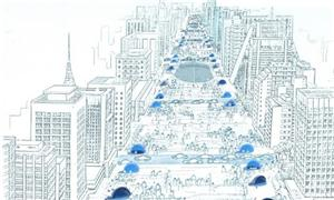 Perspectiva do projeto Nova Paulista revisado pelo