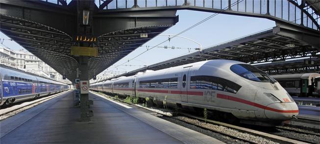Plataforma de estação de trem em Paris