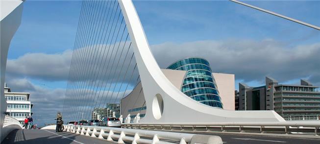 Ponte Samuel Beckett, em Dublin