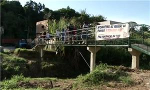 Ponte tem cerca de 24 metros de comprimento