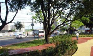 Praça fica localizada na Avenida Djalma Batista
