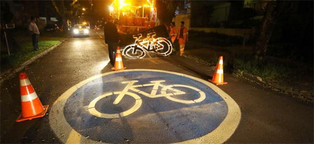 Primeira ciclorota oficialmente sinalizada em Curi