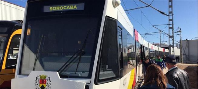 Projeção de como será o VLT de Sorocaba (SP)
