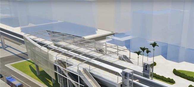 Projeção de uma futura estação da Linha 18