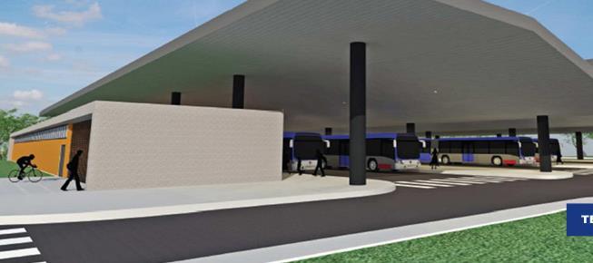 Projeção do futuro Terminal de Aruja