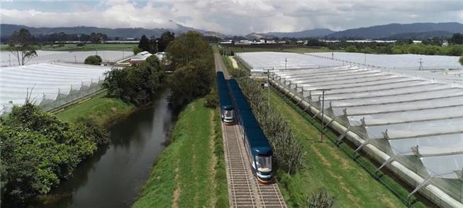 Projeção do VLT que circulará pela região de Bogot