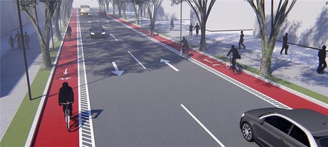 Projeção mostra Curitiba com a nova estrutura cicl