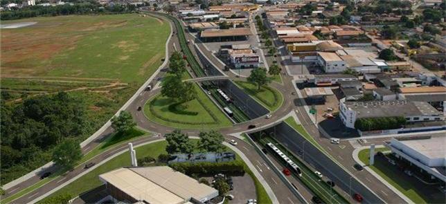 Projeto da via para o futuro VLT de Cuiabá
