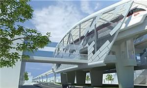 Projeto de estação do monotrilho de Manaus