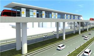 Projeto de estação elevada do Corredor BR-101