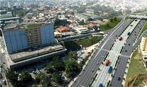 Projeto do BRT na av. Antonio Carlos, em Belo Hori