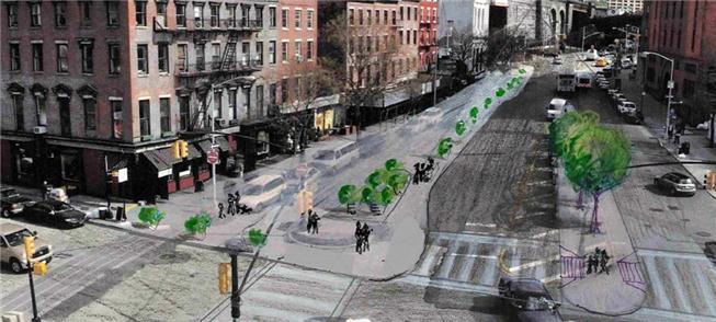 Projeto para transformação no cruzamento das ruas
