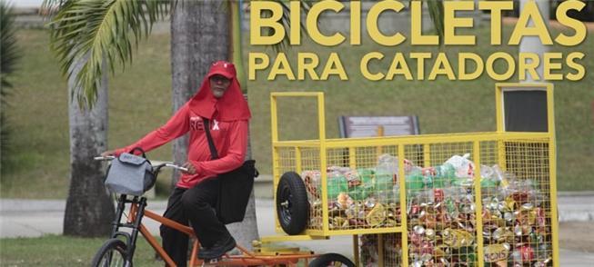 Projeto Relix, que destina bikes de carga aos trab