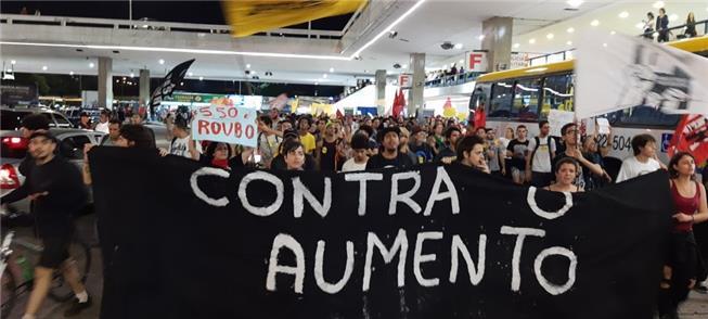 Protesto na Rodoviária de Brasília