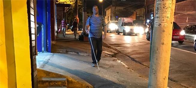 Quando a calçada é uma armadilha ao pedestre...