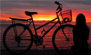 Quase todos os dias Ana Carolina faz uso da bicicl