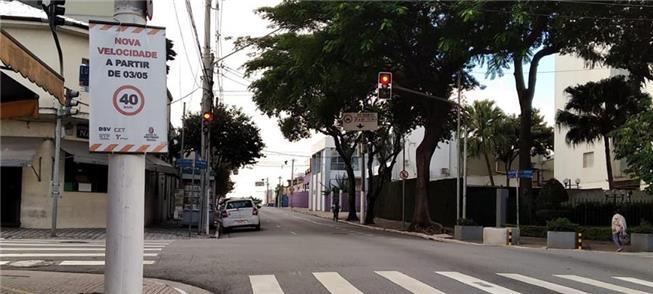 R. Chico Pontes, na Zona Norte: velocidade máxima