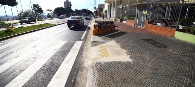 Rampa terminada na semana passada na rua Rui Doria