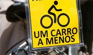 Recado de um ciclista, na Peladada SP, em 2010