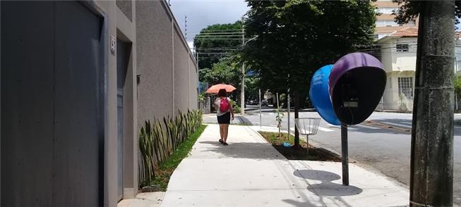 Redes de caminhar: calçadas, árvores, rampas, faix