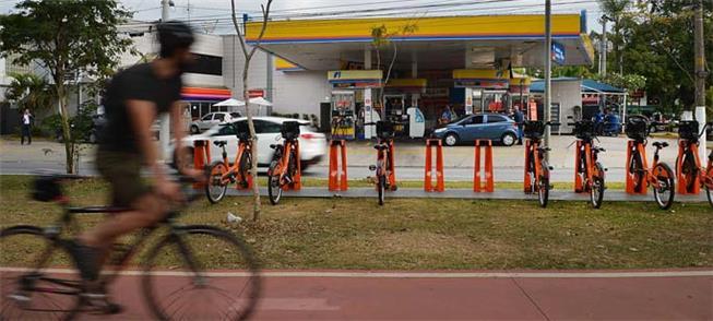 Redução (18%) no uso de bicicleta em SP na pandemi