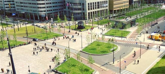 Região central de Roterdã, na Holanda