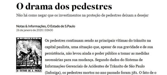 Reprodução O Estado de S. Paulo