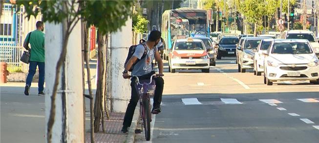 Reta da Penha, local onde morreu um ciclista ontem