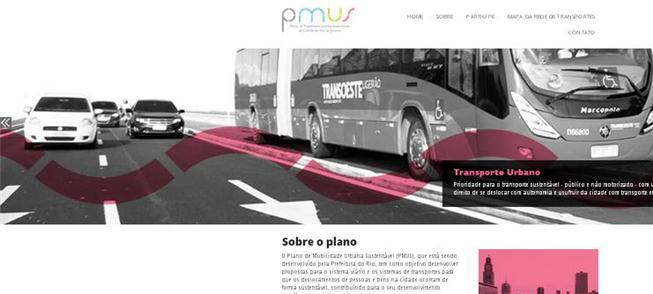 Rio de Janeiro tem site sobre o plano de mobilidad