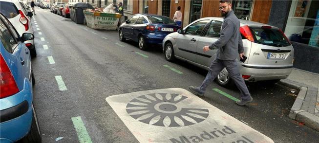 Rua em área central de Madri, onde a prefeitura co