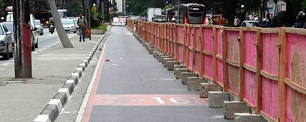 São Paulo inicia obra de ciclovia na avenida Pauli