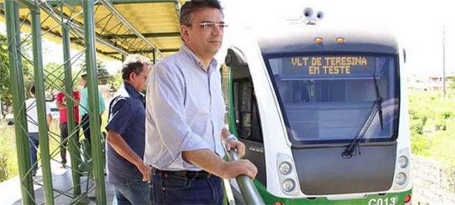 Secretário Guilhermano Pires na viagem do VLT de T